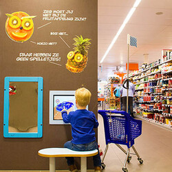 this image shows a kids corner in an AH supermarket