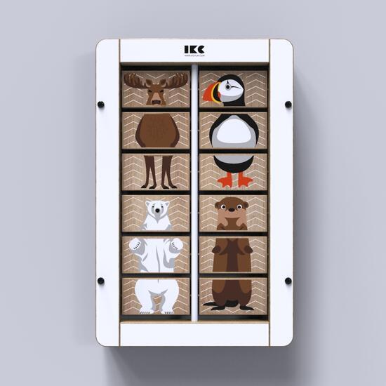 Op deze afbeelding staat wandspel Animal fusion uit de IKC wandspellen collectie