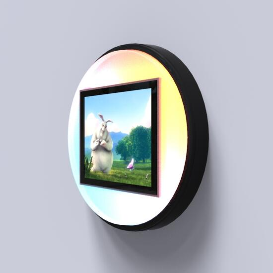 Op deze afbeelding staat een interactief speelsysteem Bubble cartoon led