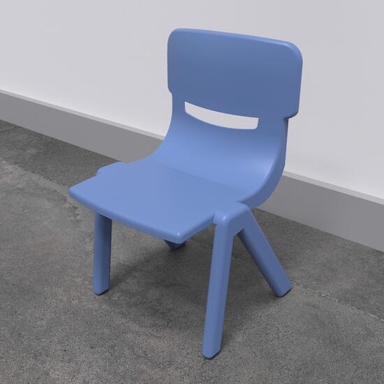 Op deze afbeelding staat een kindermeubel Fun chair blue