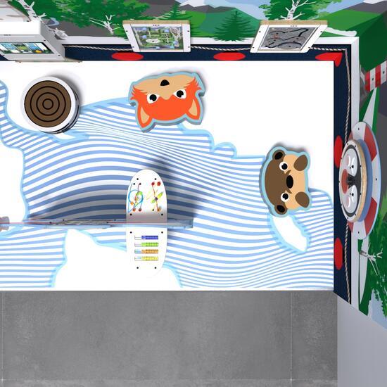 Op deze afbeelding staat een speelhoek Arctic M 6 m²
