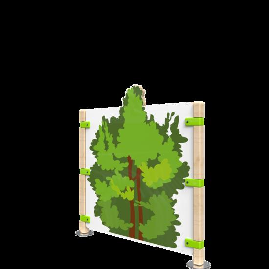 Hekwerk voor kinderhoek met een boom   IKC Hekwerken