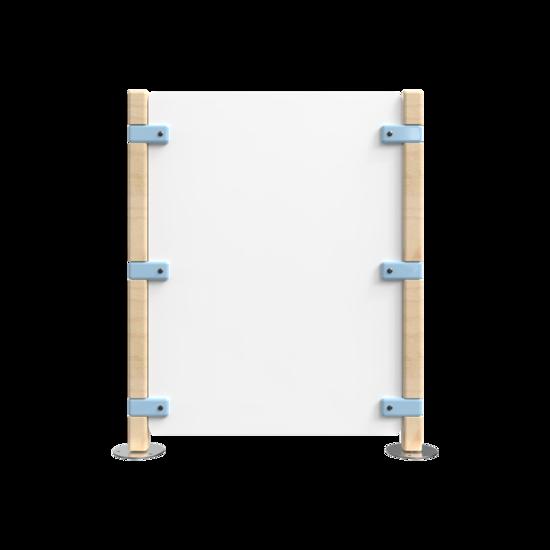 Hekwerk voor een kinderhoek blauw met wit   IKC Hekwerken