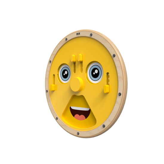 Wandspel speelwiel uiten van emoties voor kinderen voor in een kinderhoek of wachtruimte
