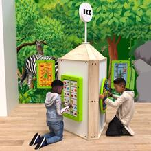This image shows a play tower wood