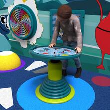 This image shows a play system swinging top galaxy