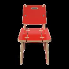 Rode houten stoel voor kinderen | IKC Kindermeubels