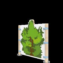 Hekwerk met de uitstraling van een bos   IKC Hekwerken