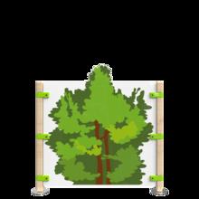 Hekwerk voor kinderhoek met de uitstraling van een bos   IKC Hekwerken