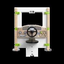 Hekwerk Dashboard is een speelpaneel met daarop een dashboard en stuur   IKC Hekwerken