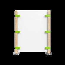Hekwerk voor een kinderhoek groen met wit   IKC Hekwerken
