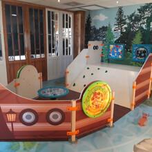 speelelement voor een kinderhoek in de vorm van een schip met een glijbaan en diverse educatieve speelelementen | IKC